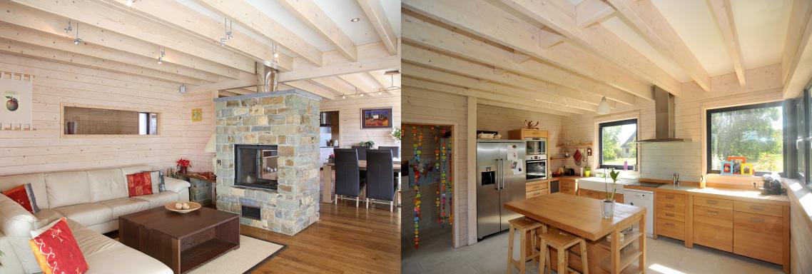 bois massif maison bois c t sud. Black Bedroom Furniture Sets. Home Design Ideas