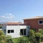 chantier Roquebrune la maison bois cote sud