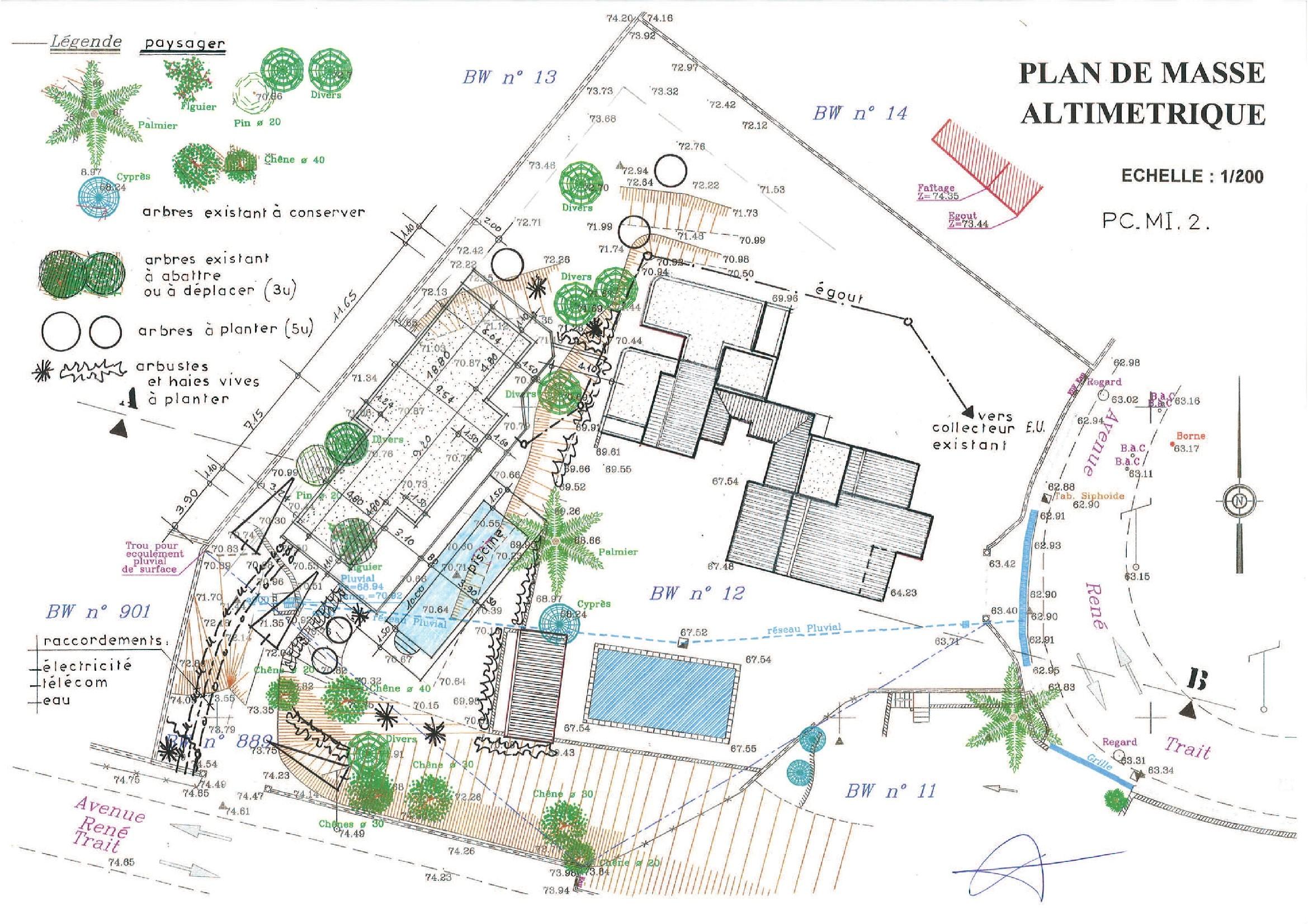 Plan de masse de maison good plan de masse de maison with plan de masse de maison plan de - Exemple plan de masse ...