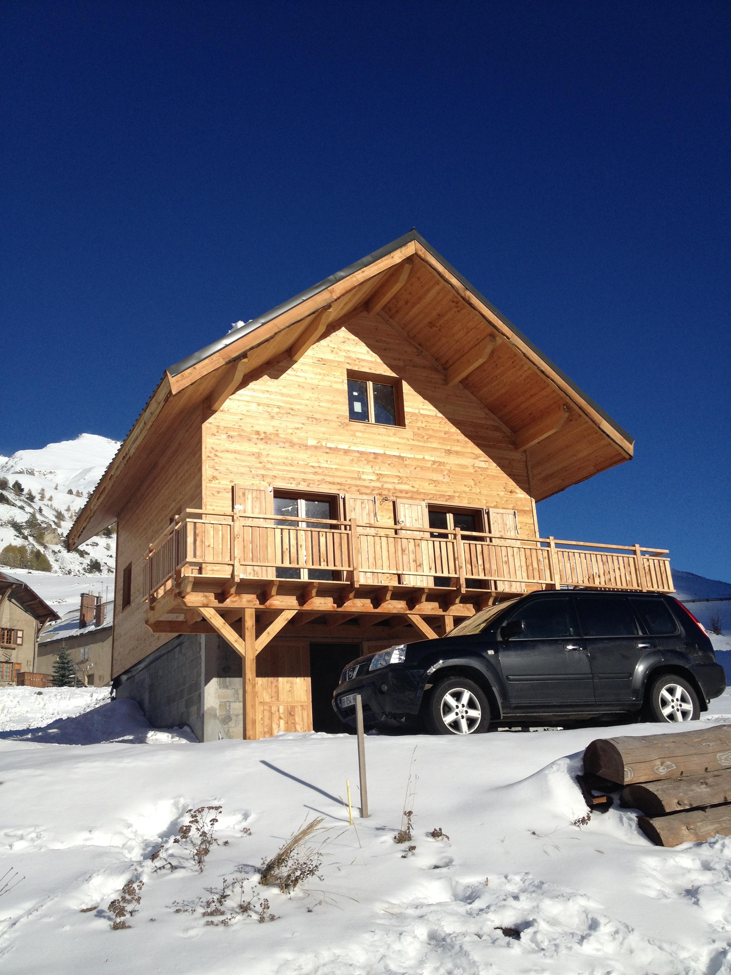 Chalet maison bois c t sud for Chalet en bois solde
