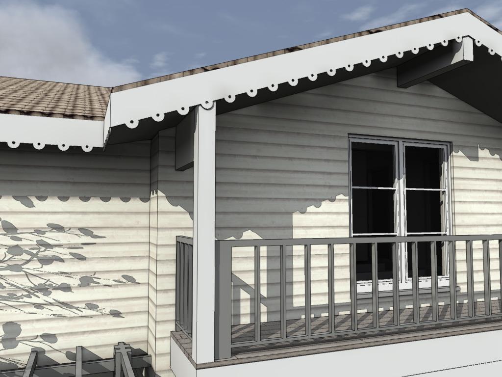 fa ade mougins 06 maison bois c t sud. Black Bedroom Furniture Sets. Home Design Ideas