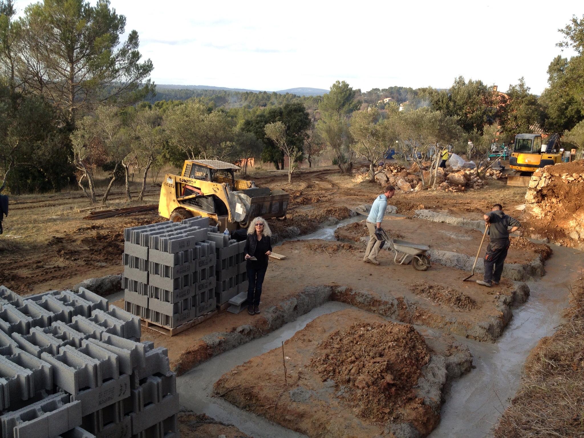 Fondation maison bois c t sud for Sechage fondation