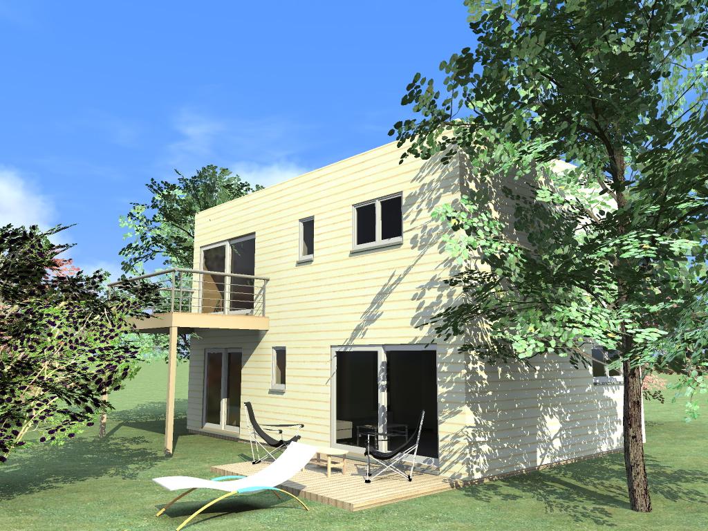 Pierrefeu  Maison bois côté sud ~ Constructeur Maison Bois Var