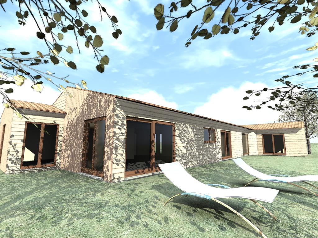 trouver un terrain maison bois c t sud. Black Bedroom Furniture Sets. Home Design Ideas