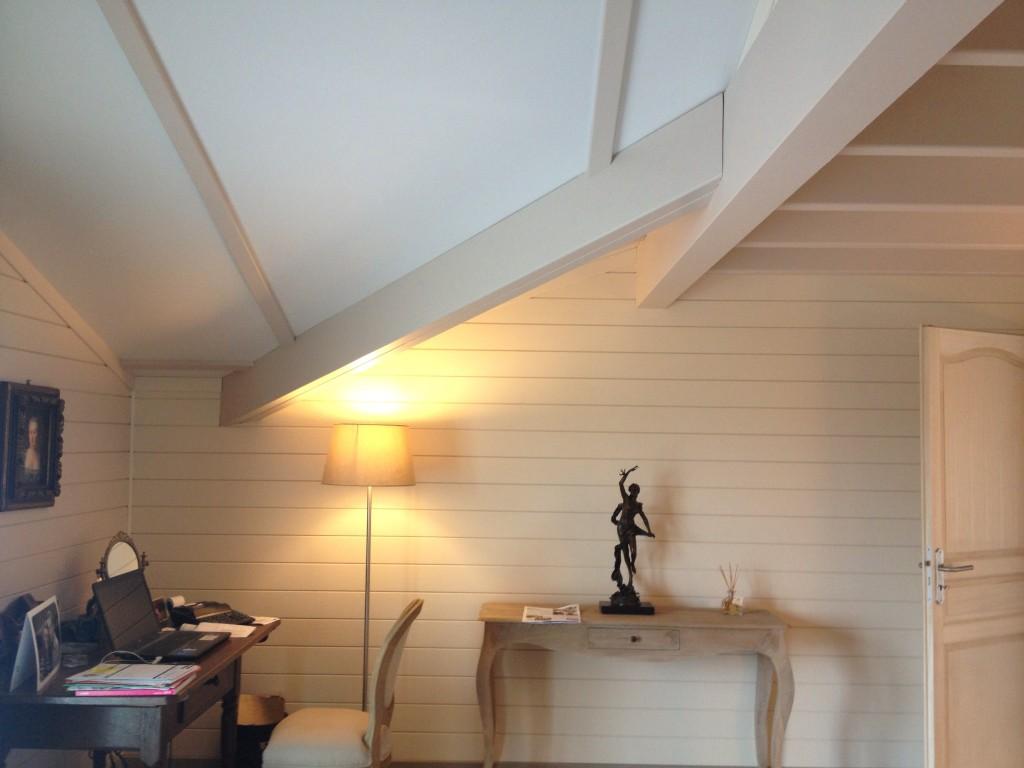 intérieur maison bois massif Mougins