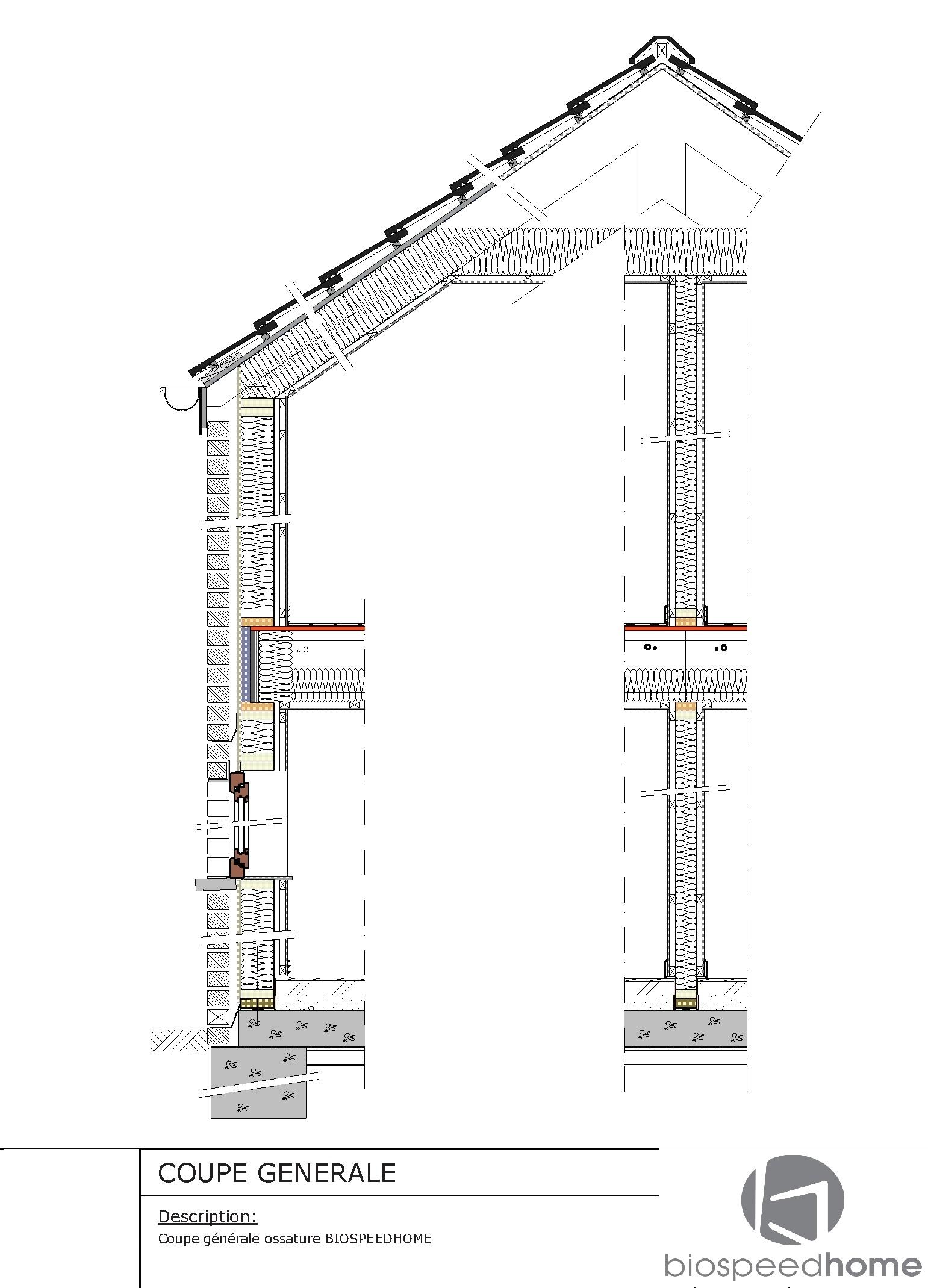Montage d une ossature bois 1 maison bois c t sud for Construction en bois details
