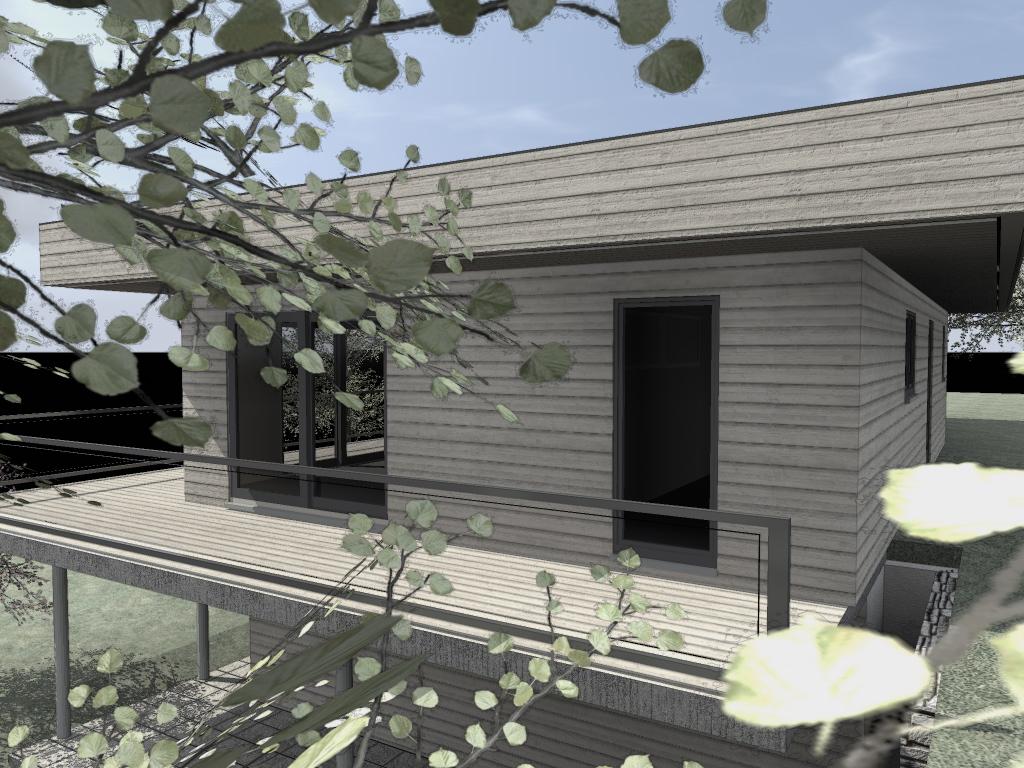 un chantier maison bois nice maison bois c t sud. Black Bedroom Furniture Sets. Home Design Ideas