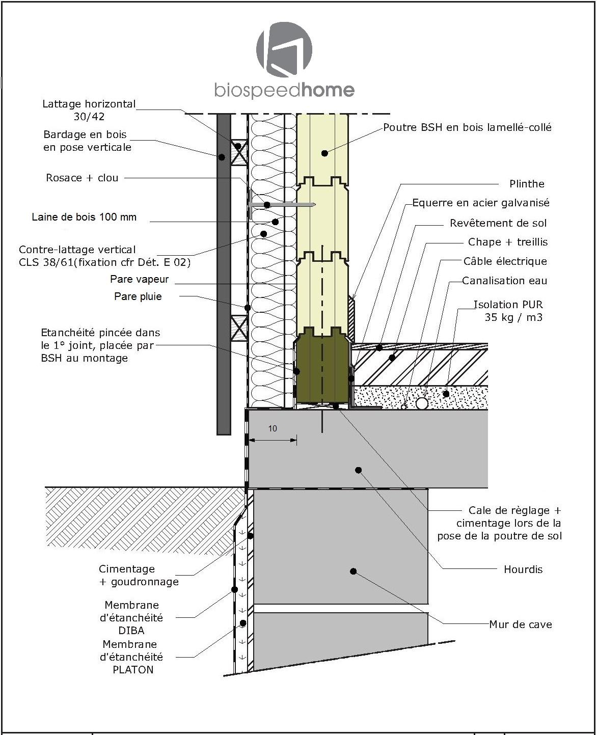 Isolation des murs fr jus 83 maison bois c t sud for Construction en bois details
