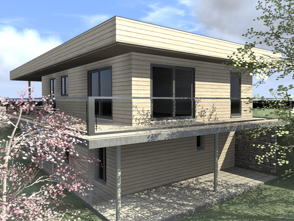 montage d une ossature bois maison bois c t sud. Black Bedroom Furniture Sets. Home Design Ideas