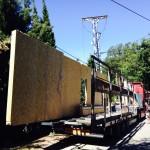 transport murs ossature bois