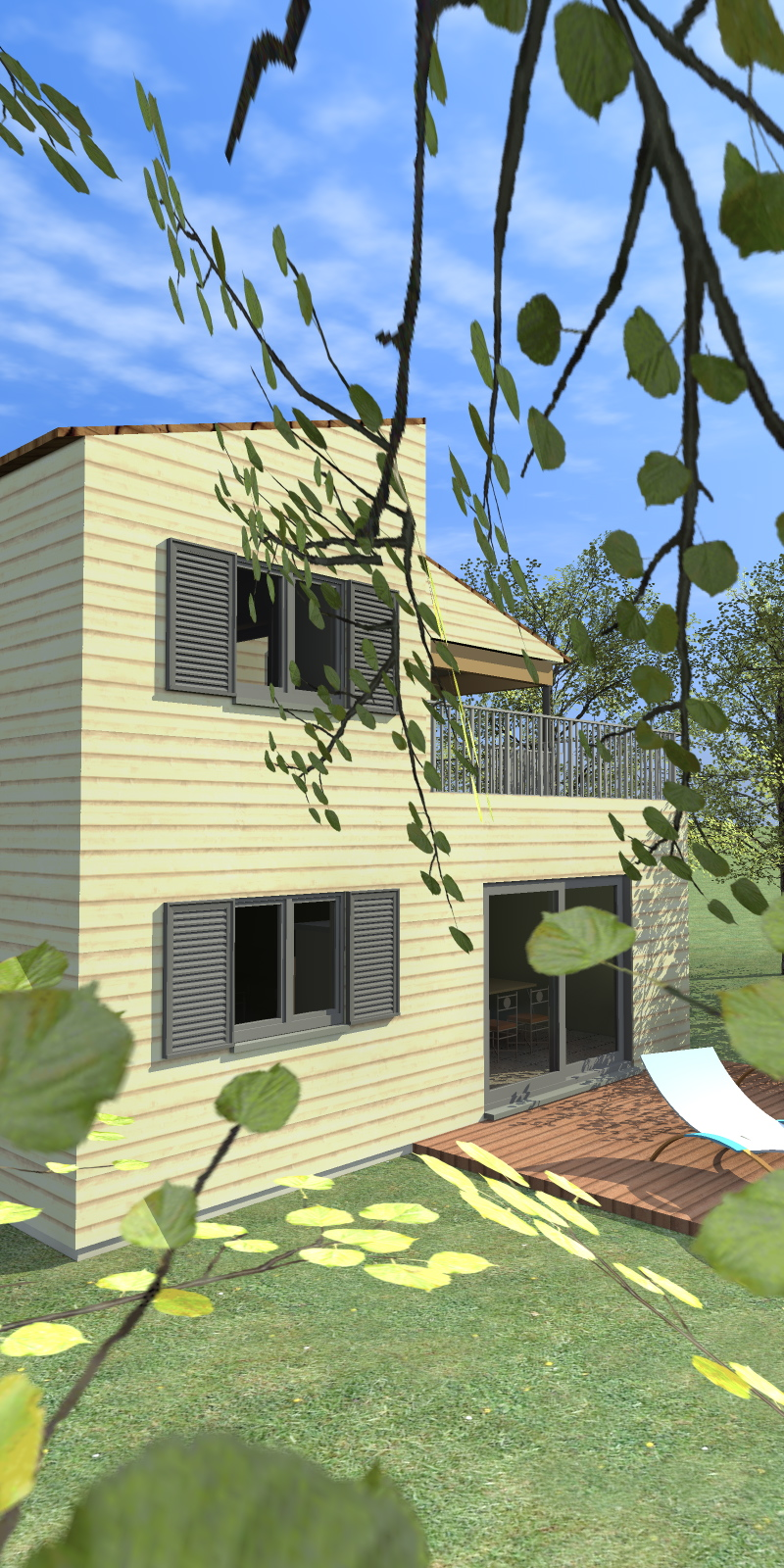 bouches du rhone maison bois c t sud. Black Bedroom Furniture Sets. Home Design Ideas