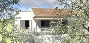 Gvue 3D maison bois massif