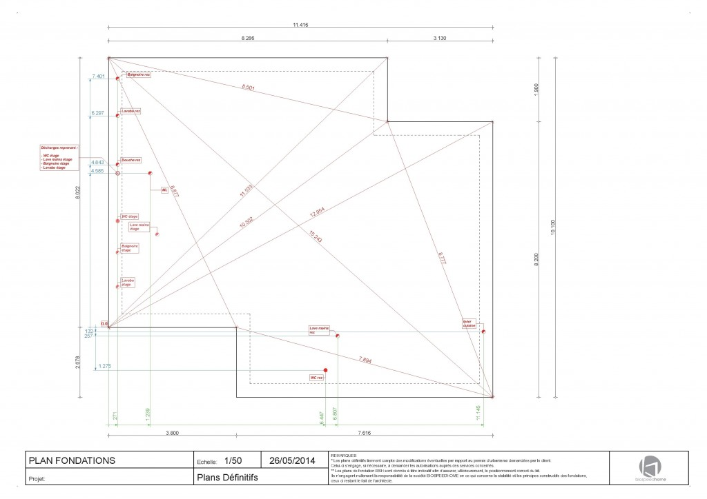 plan dalle maison bois massif