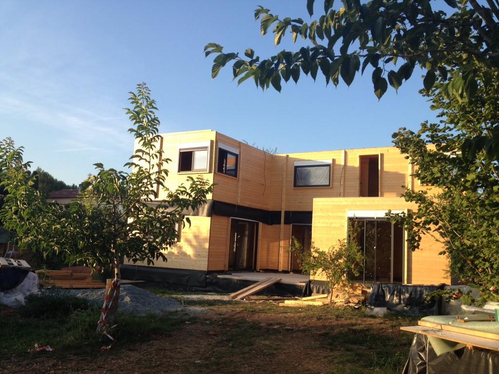 maison bois massif Mouans Sartoux