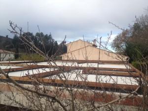 poutre de sol maison bois massif Rougiers