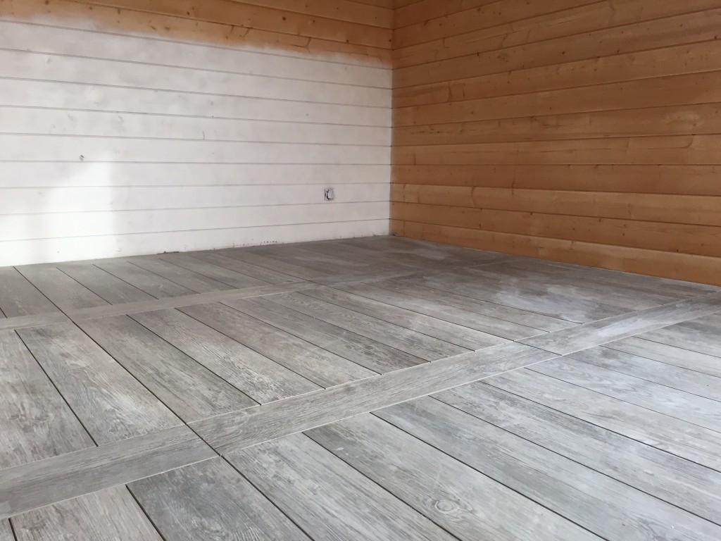 carrelage maison bois massif Mouans Sartoux