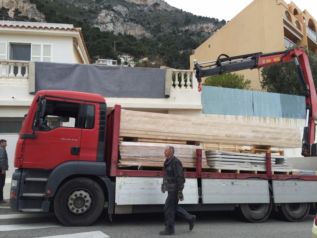 déchargement ossature bois