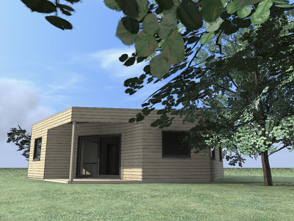 maison des abeilles maison bois c t sud. Black Bedroom Furniture Sets. Home Design Ideas