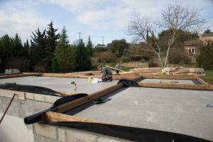 poutre de sol maison bois massif