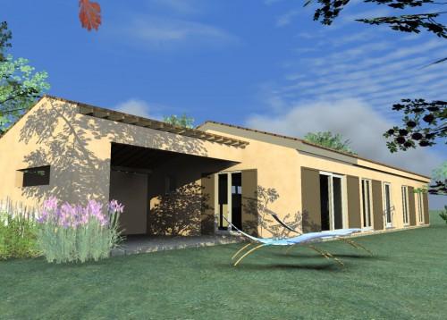 cuers maison bois c t sud. Black Bedroom Furniture Sets. Home Design Ideas
