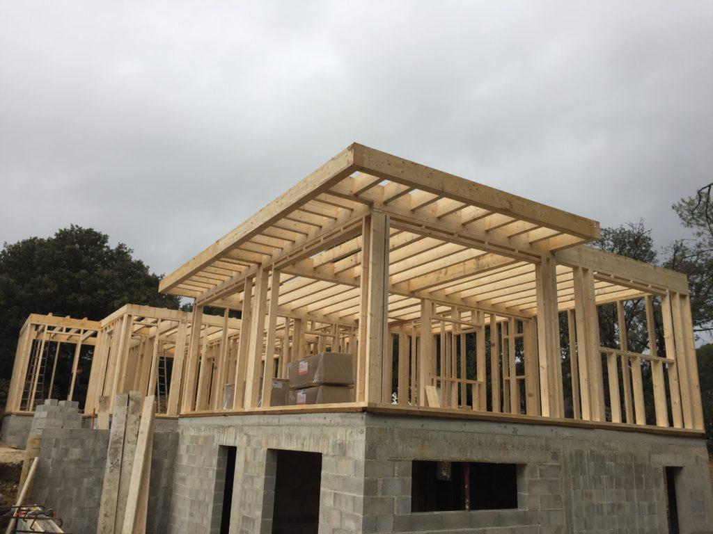structure d'ossature bois