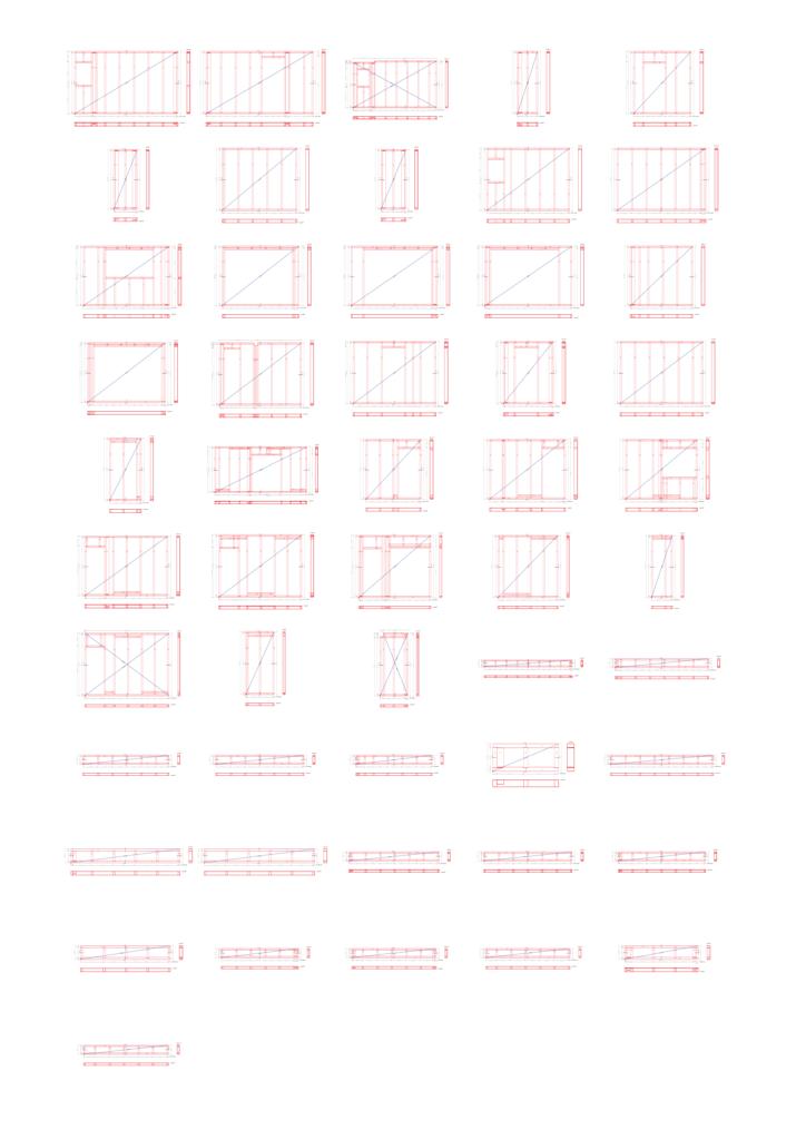 plans de montage des murs d'une maison en ossature bois