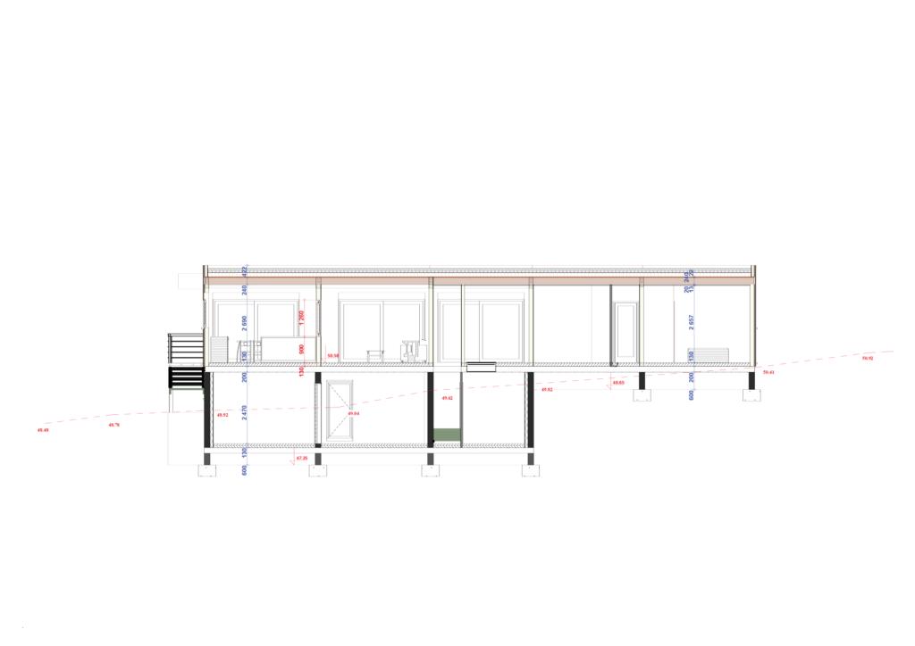 plan de coupe maison ossature bois