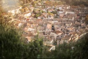 Cotignac dans le Var vue panoramique