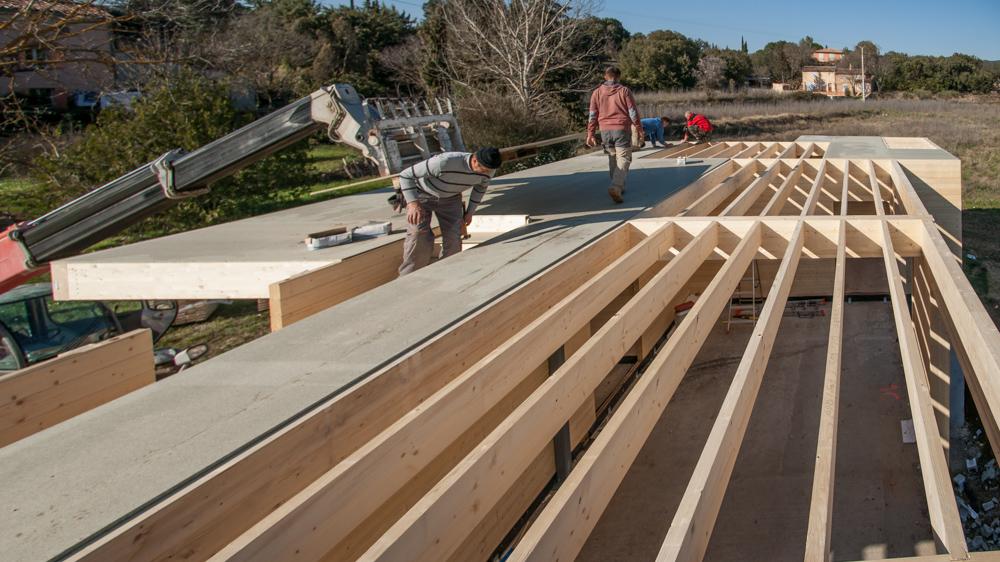 Plancher bois solives visibles à Cotignac ( Var)
