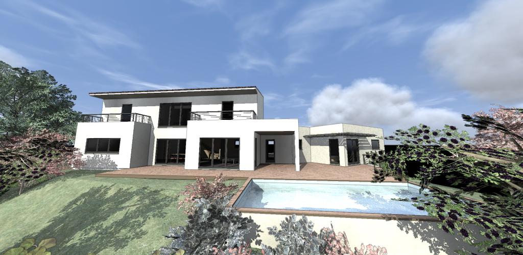 Projet maison en ossature bois à Grimaud
