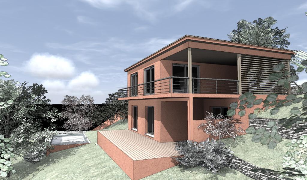 Projet d'une maison bois à Nice