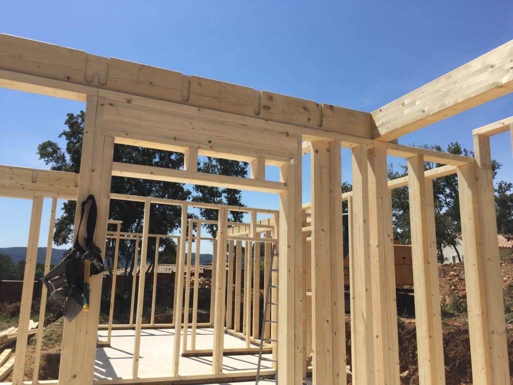 construction d'une maison bois dans le Var