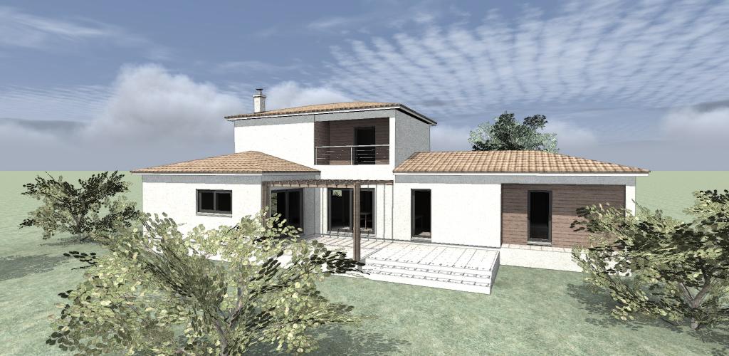 maison bois R+1